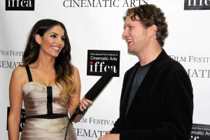 IFFCA Interviewer Violet Kanian and Charred Director Michael Chmiel on the Red Carpet